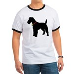 Christmas or Holiday Fox Terrier Silhouette Ringer
