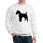 Christmas or Holiday Fox Terrier Silhouette Sweats