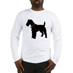 Christmas or Holiday Fox Terrier Silhouette Long S
