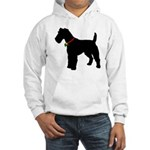 Christmas or Holiday Fox Terrier Silhouette Hooded