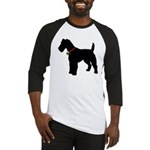 Christmas or Holiday Fox Terrier Silhouette Baseba