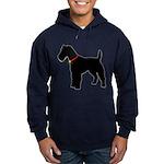 Christmas or Holiday Fox Terrier Silhouette Hoodie