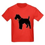 Christmas or Holiday Fox Terrier Silhouette Kids D