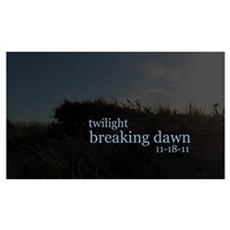Twilight Breaking Dawn Beach Poster