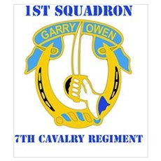 DUI - 1st Sqdrn - 7th Cavalry Regt with Text Mini Poster
