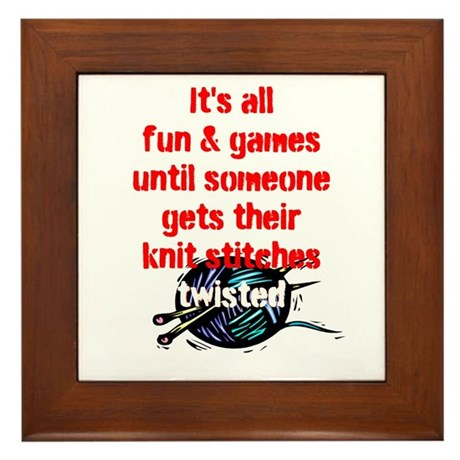 Twisted Stitches Framed Tile