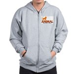 AW Logo (Front & Back) Zip Hoodie