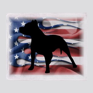 Pit Patriot Throw Blanket