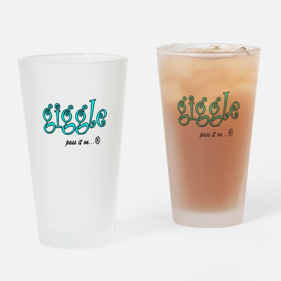 Funny Giggle Drinking Glass
