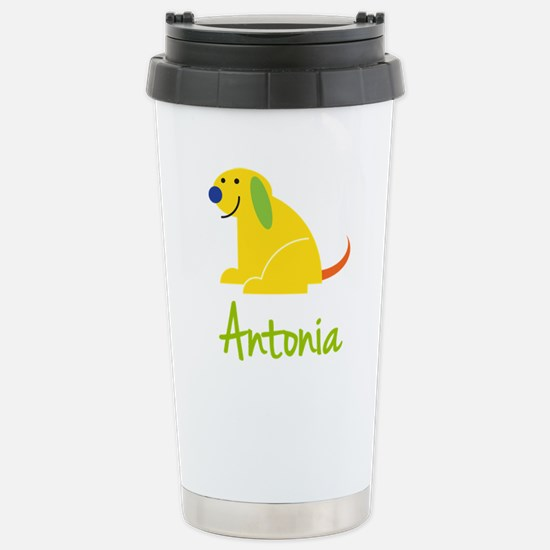 Antonia Loves Puppies Stainless Steel Travel Mug
