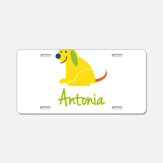 Antonia Loves Puppies Aluminum License Plate