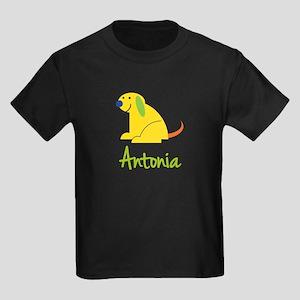 Antonia Loves Puppies Kids Dark T-Shirt