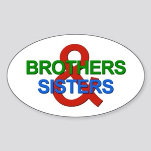 Brothers & Sisters Television Sticker (Oval)