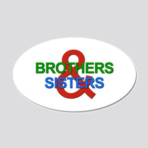Brothers & Sisters Television 22x14 Oval Wall Peel
