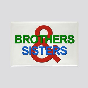 Brothers & Sisters Television Rectangle Magnet