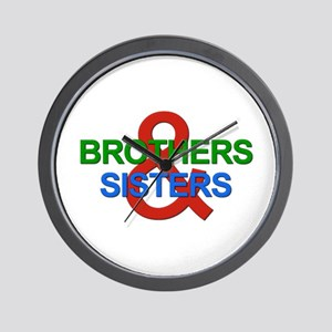 Brothers & Sisters Television Wall Clock