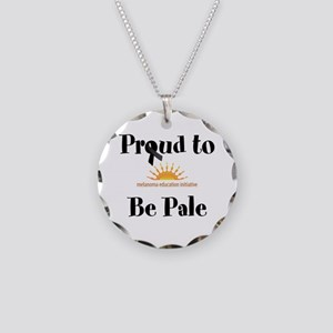 Proud to be Pale Necklace Circle Charm