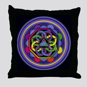 Enigma Mandala Throw Pillow