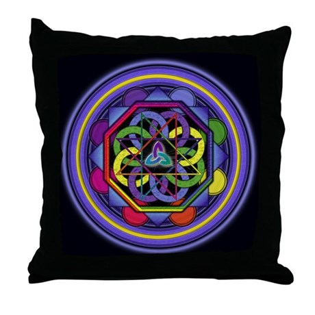 Enigma Mandala Throw Pillow