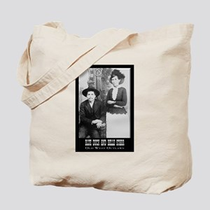 Belle Starr and Blue Duck Tote Bag