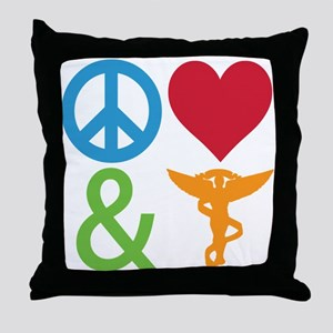 Peace, Love & Chiro Throw Pillow