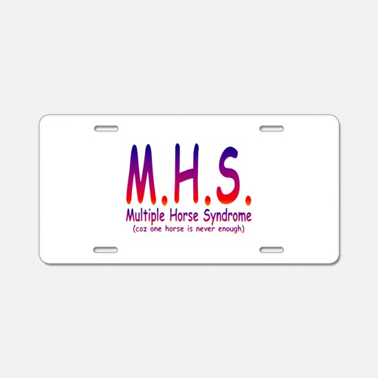 Multiple Horse Syndrome Aluminum License Plate