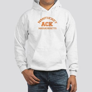 Nantucket MA - Varsity Design Hooded Sweatshirt