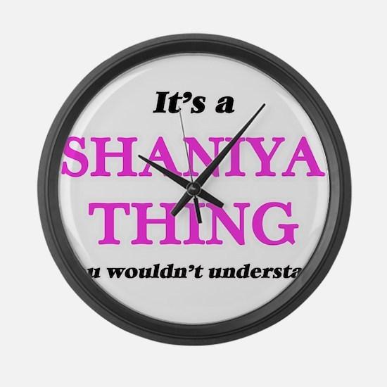 It's a Shaniya thing, you wou Large Wall Clock