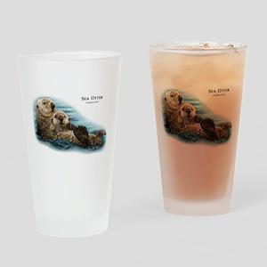 Sea Otter Drinking Glass