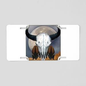 Buffalo skull 3 Aluminum License Plate