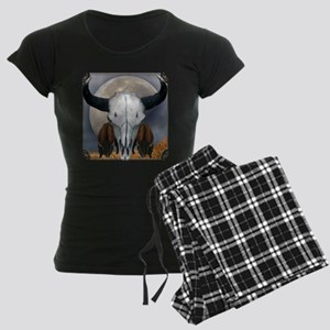 Buffalo skull 3 Women's Dark Pajamas