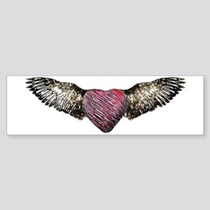 Flying Heart Bumper Sticker