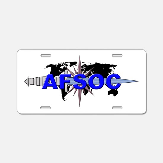 AFSOC (new) Aluminum License Plate