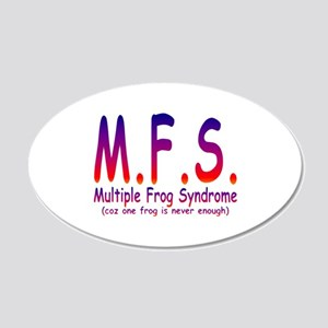 Multiple Frog Syndrome 22x14 Oval Wall Peel