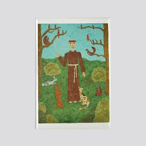 Saint Francis of Assisi Rectangle Magnet