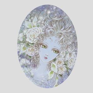 Fade to White Ornament (Oval)