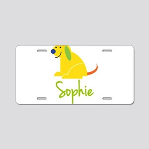Sophie Loves Puppies Aluminum License Plate