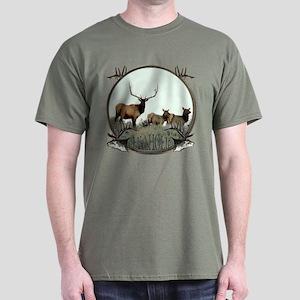 Monster bull elk elkahalic Dark T-Shirt