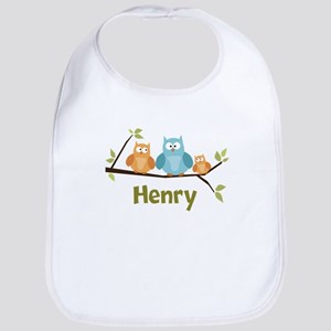 Custom Baby Name Owls Bib