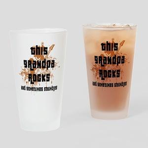 Funny This Grandpa Rocks Drinking Glass