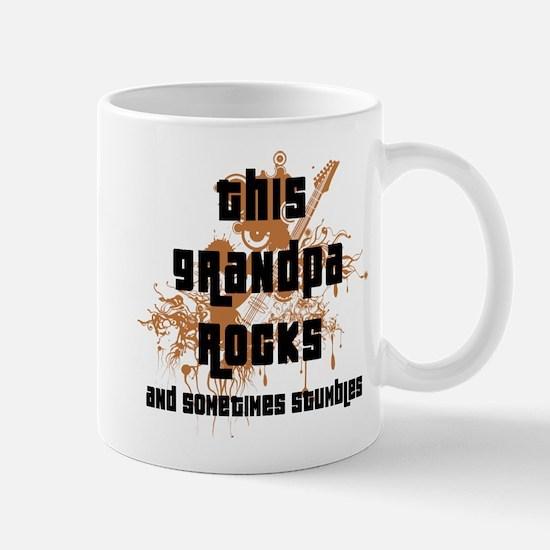 Funny This Grandpa Rocks Mug