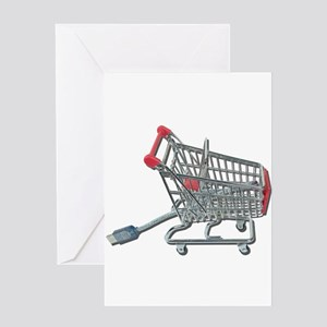 Online Shopping Cart and Cabl Greeting Card