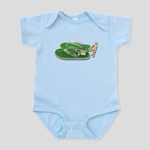 Mowing Grass Sandals Infant Bodysuit