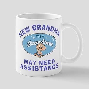 New Grandson Grandma Mug