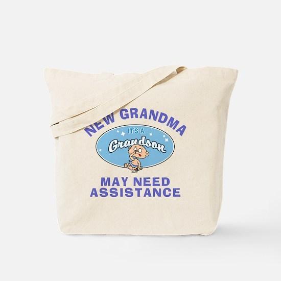 New Grandson Grandma Tote Bag