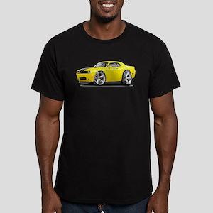 Challenger SRT8 Yellow Car Men's Fitted T-Shirt (d