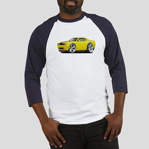 Challenger SRT8 Yellow Car Baseball Jersey