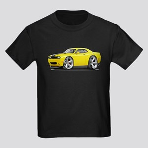 Challenger SRT8 Yellow Car Kids Dark T-Shirt