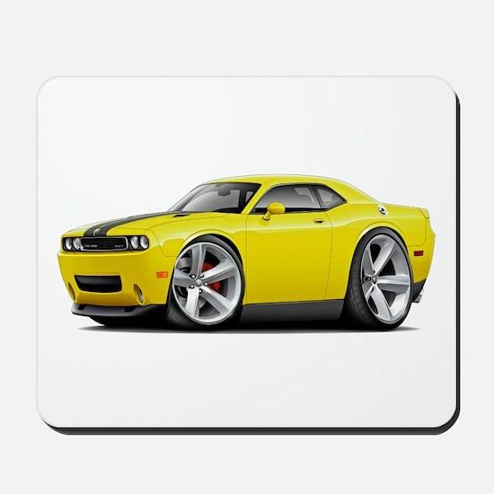 Challenger SRT8 Yellow Car Mousepad