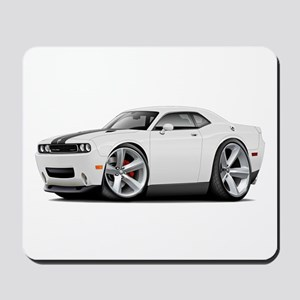 Challenger SRT8 White Car Mousepad